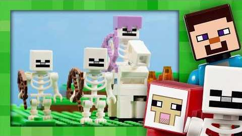 The Skeleton Attack Attack of the Gang - LEGO Minecraft - 21146 - Stop Motion