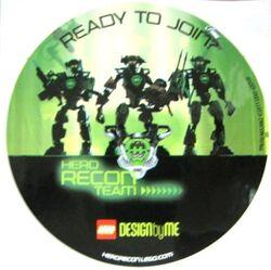 Gstk143 Hero Factory Sticker