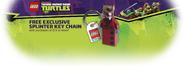850838 Splinter Key Chain