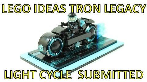 LEGO IDEAS TRON LEGACY LIGHT CYCLE SUBMITTED!