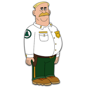 Brickleberry HD CLEAR Character ART Woody Johnson