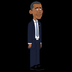Brickleberry HD CLEAR Character ART Barack Obama
