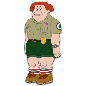 Brickleberry HD CLEAR Character ART Connie Cunaman