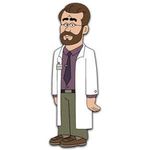 Brickleberry HD CLEAR Character ART Dr Kuznietz