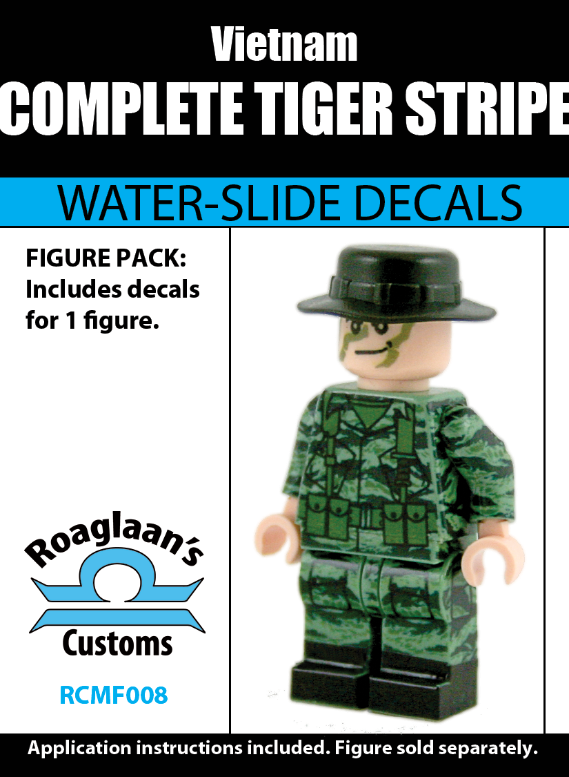 Vietnamese Tiger Stripe Complete Minifigure Set-Water-Slide