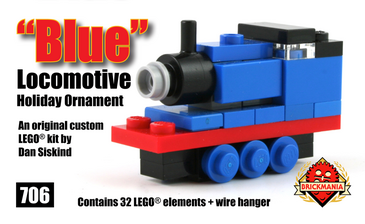 Blue Locomotive Holiday Ornament | Brickmania Wiki | FANDOM powered