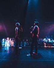 Bridgit and Pell perfoming at Nemesis Tour