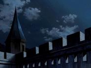 Logres Castle at night