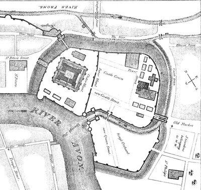 Bristol Castle plan ancient times