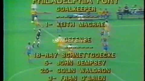 1978 NASL Rochester Lancers at Philadelphia Fury