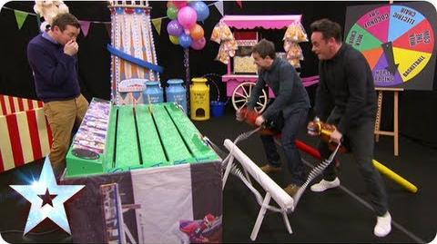 Stallions Ant and Dec are horsing around in BGMT Britain's Got More Talent 2013