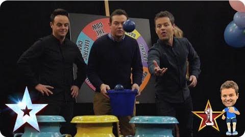 Ant Vs Dec The milk churn! fairground fantasy Britain's Got More Talent 2013