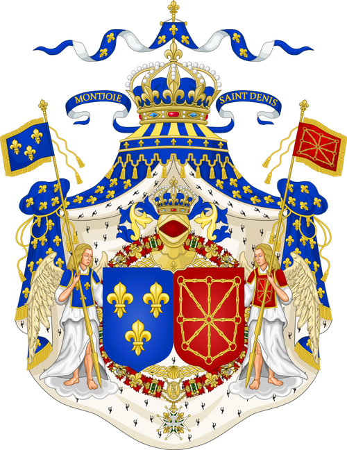 Grand Royal Coat of Arms of France & Navarre.