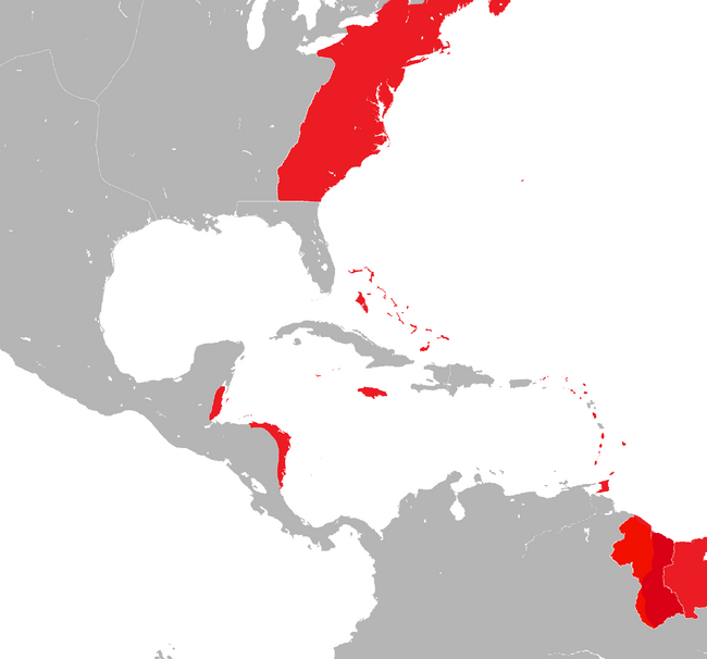 British West Indies 1750