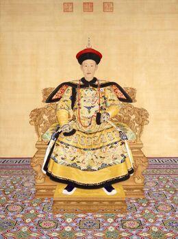 清 郎世宁绘《清高宗乾隆帝朝服像》