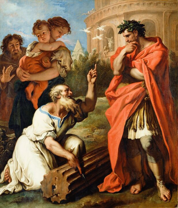 Ricci-Sebastiano-Tarquin-the-Elder-Consulting-Attius-Navius-c1690