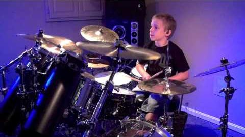 """""""Shoot To Thrill, AC DC"""" Avery Molek, 7 year old Drummer"""