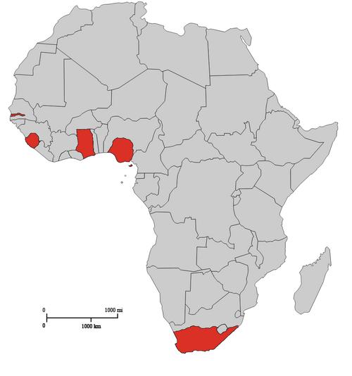 British Africa Map 1747