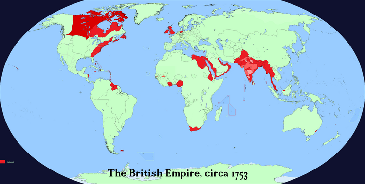 The British Empire World Map 1753