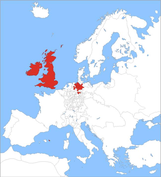 BRITISH Europe 1750