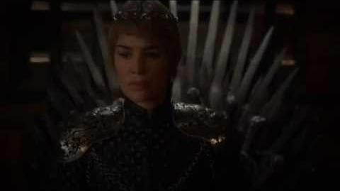 Game of Thrones 6x10 - Cersei sits on the Iron Throne