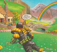 Judge Dredd over the rainbow