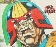 Dredd is blinded