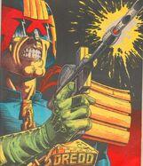 Dredd fires his lawgiver