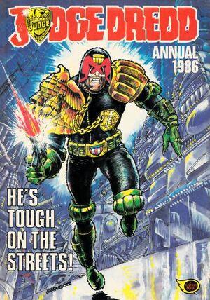 Dredd annual 1986 cover