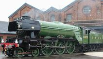 Flying scotsman in doncaster (1)
