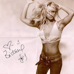 Side 1 of the poster available on the first editions of the album. It's a signed picture of Spears.