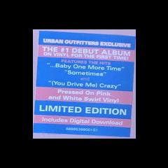 Hype sticker for pink vinyl