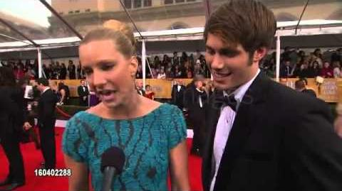 Heather Morris and Blake Jenner Glee Interview @sagawards 2013