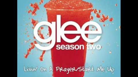 Glee ''Livin' on a Prayer - Start Me Up'' (Girls Mash-up)