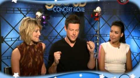 Lea Michele, Dianna Agron and the cast of Glee