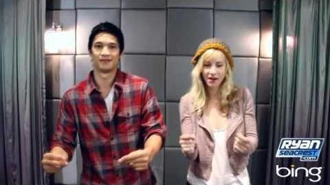 Harry Shum Jr. and Heather Morris From Glee Teach You How to Dougie On Air With Ryan Seacrest