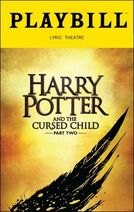 Harry Potter and the Cursed Playbill Part 2