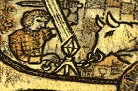 Tripod on the manuscript