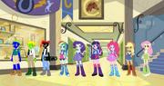 Equestria Girls Mane 6 and Stallion Trio 2
