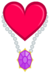 Heart and necklace cuite mark vector