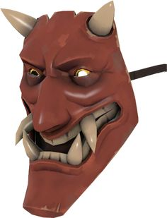 Red Demon Mask Brooding Ninja Highschool Parkour Scout Pedia