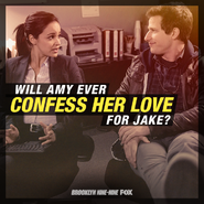 Brooklyn 99 Facebook Will Amy Confess Her Love For Jake?