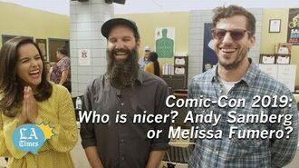 Comic-Con Who is Nicer Andy Samberg or Melissa Fumero?