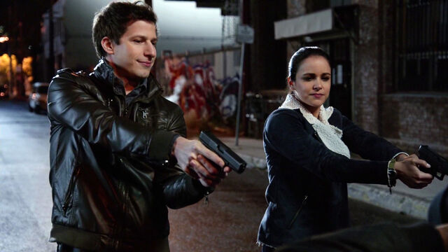File:1-Jake-Peralta-and-Amy-Santiago NYPD Put your hands up.jpg