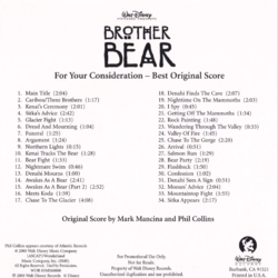 Brother Bear Complete Score