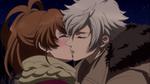 Tsubaki kissing Ema