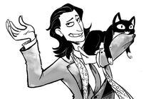 Loki and kitty by mizzcoffeebot-d6vpg4i