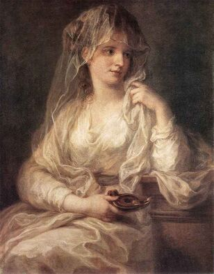 Reproduction Painting-Switzerland-Kauffmann, Angelica 1741 - 1807-Portrait of a Woman Dressed as Vestal Virgin