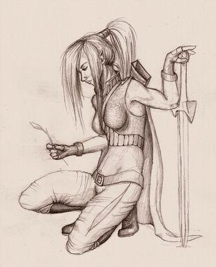 DnD female elf ranger by yiasafrai