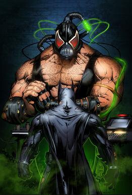 Batman vs bane colors 3 by marcioabreu7-d3b9yzd